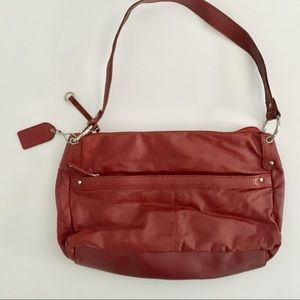 Oxblood red leather purse